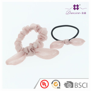 Fancy Design Sweat Ponytail Holder Knot Bunny Ears Elastic Hair Ties for Teenager Girls