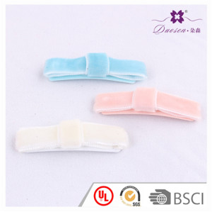Wholesale Unique Design Velvet Rectangular Hair Clips for Baby Girl