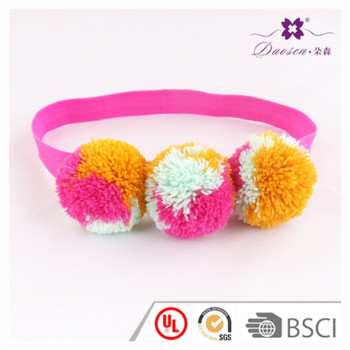 Colorful Custom Baby Girl Photo Shooting Pink Elastic Balls Headband For Baby Toddler