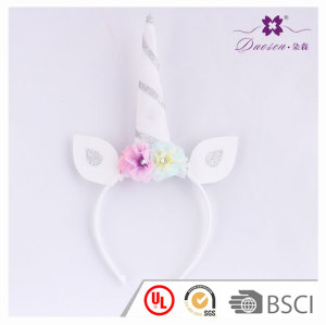 Birthday gift  Flower Horn unicorn ears headband for Children  unicorn horn hair band for girls