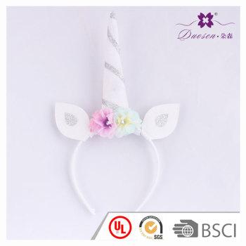 Birthday gift  Flower Horn unicorn ears headband for Children  unicorn horn hair band for girls
