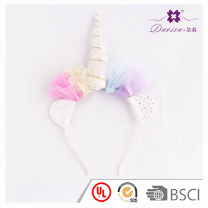 Pink Bridal Net Material for Headband Unicorn Horn Hair Band lover Gift Birthday