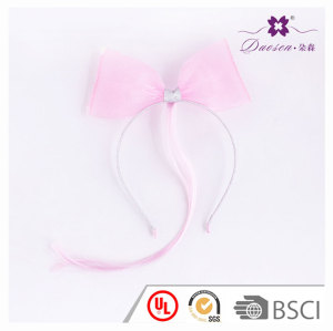 Pink Big Wide Bowknot  Wig Hair Bend  for Girls  Wig Head band with bow