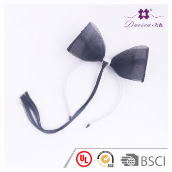 2017 Black  Big Wide Bowknot  Wig Hair Bend  for Girls  Wig Head band with bow