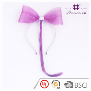 The Color Purple  Big Wide Bowknot  Wig Hair Bend  for Girls  Wig hairbands for party