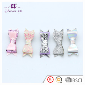Glitter Hair Bows WITH CLIPS Boutique Hair Glitter Bow Clips For Baby Girls
