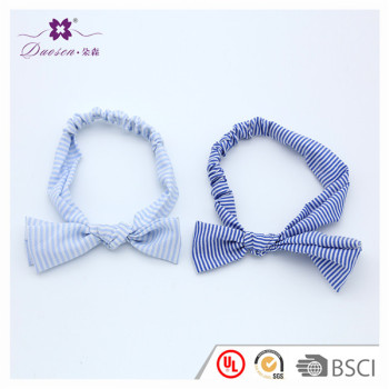 Vintage Elastic Tightened Anti-Slip Design Bow Styles Fashionable Scarf Hair Band Bunny Ear Head Band