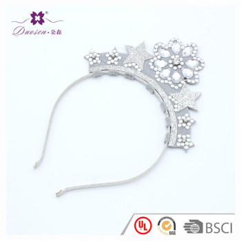 Baby Girl Infant Toddler Crystal Crown Tiara Headband Charming Charming For Wedding Bridal Birthday
