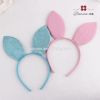 Party Costume Hair Accessory Polka Dot Print Glitter Rabbit Bunny Ear Headband
