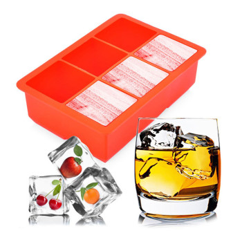 factory Novelty Soft Silicone Ice Cube Tray Ice Maker Jelly Pudding Mould