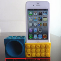 Blocks shape silicone phone holder phone dock
