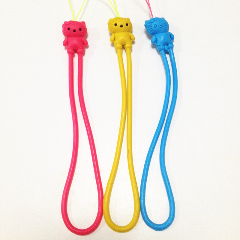 New Arrival Silicone Mobile Phone String Professional cell phone charm string and strap