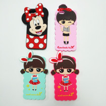 Cartoon Silicone cell phone case manufacturers Custom Cute 3d Silicone Phone case