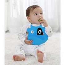 Hot sale baby cute animals food catcher waterproof feeding silicone bibs