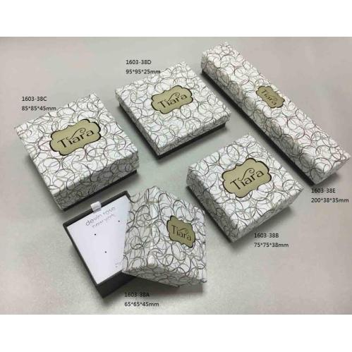 Custom logo printed jewelry box square rectangular gift for Custom jewelry packaging manufacturers