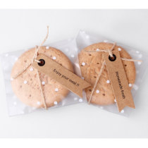 Hot sale custom printed hang tag/ Kraft paper hang tag packaging for cookies made in EECA China
