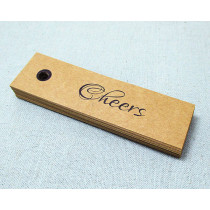 Custom design kraft swing tag/labels clothing hang tag in EECA