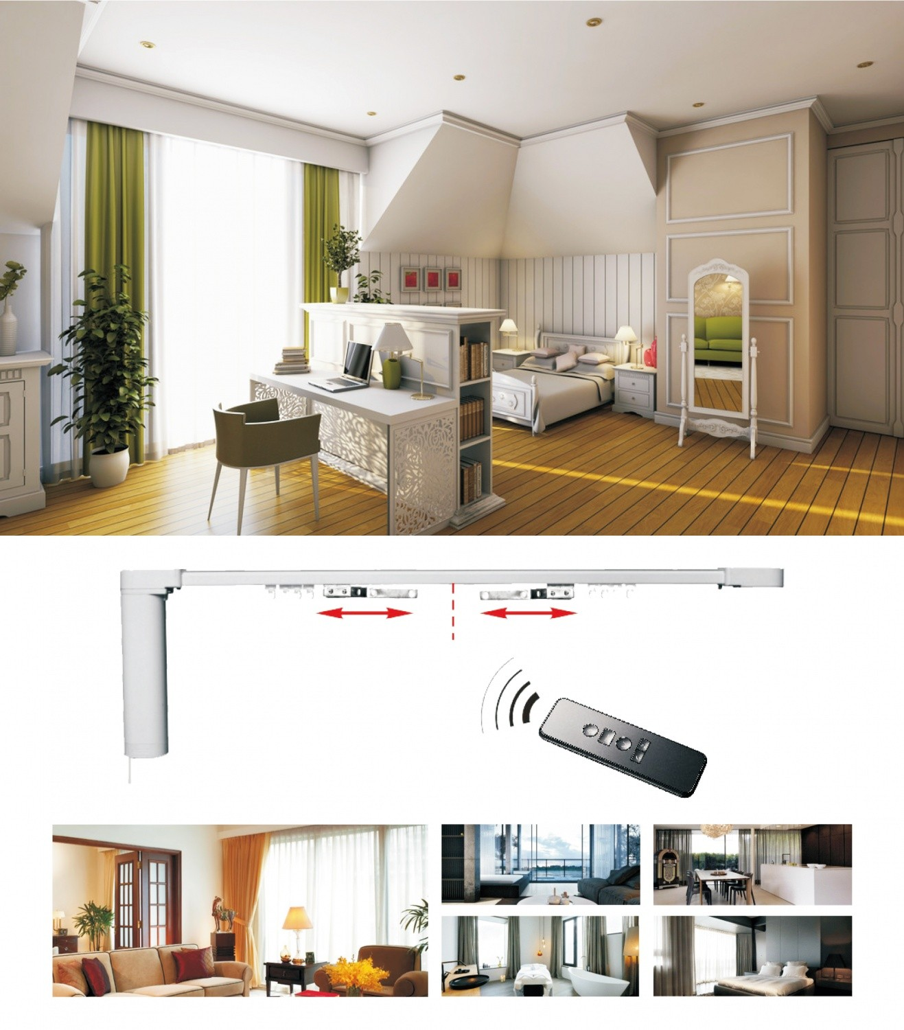 Smart Home System Window Curtain Motor T20 DIY Automatic ...