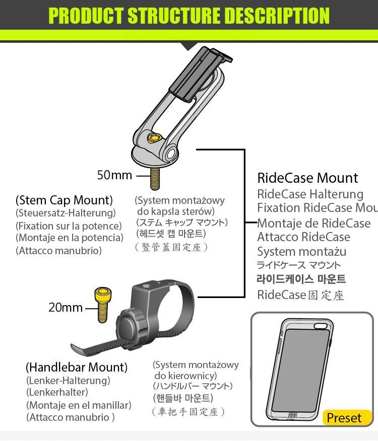 phone holders for bicycle