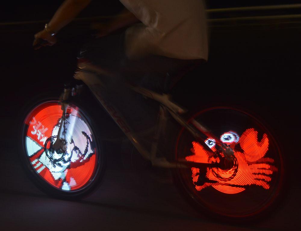 bicycle wheel light display