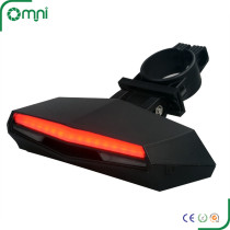 New arrival CE/ROHS/FCC led remote control intelligent Bike laser light with rear light