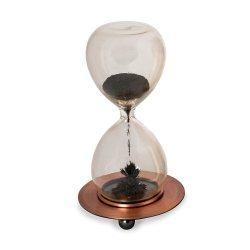 30 seconds hourglass magnetic sand timer with metal base
