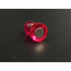 cone magnets, big pink acrylic housing