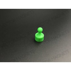 cone magnets, green plastic housing