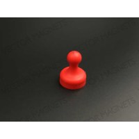 cone magnets, red plastic housing