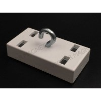 deco magnets ferrite white with hook