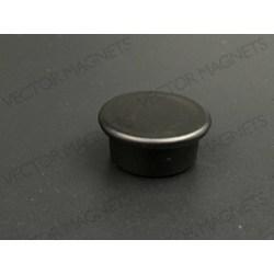 Memo Magnet Black round with plastic housing