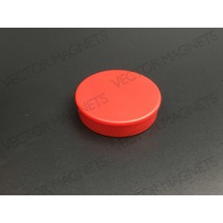 Memo Magnet Red round with plastic housing
