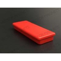 Memo Magnet NdFeB Rectangular Red with plastic housing