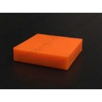 Memo Magnet Ferrite Square Orange with plastic housing
