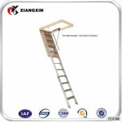 wholesale portable fold wood loft ladder with handrail