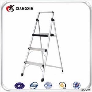 铝合金双面3层可折叠橡胶脚踏梯