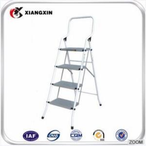 仓库制造高度调整可移动3步窄铁梯