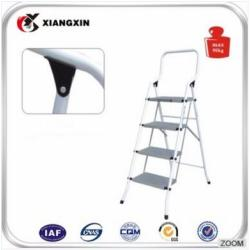 wheelbarrow foldable easy store 4 metal step ladder with handle