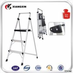 3 aluminum alloy rubber step ladder with plastic step for truck
