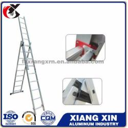 High quality en131 fire escape self support 4.7m multi purpose aluminum extension ladder