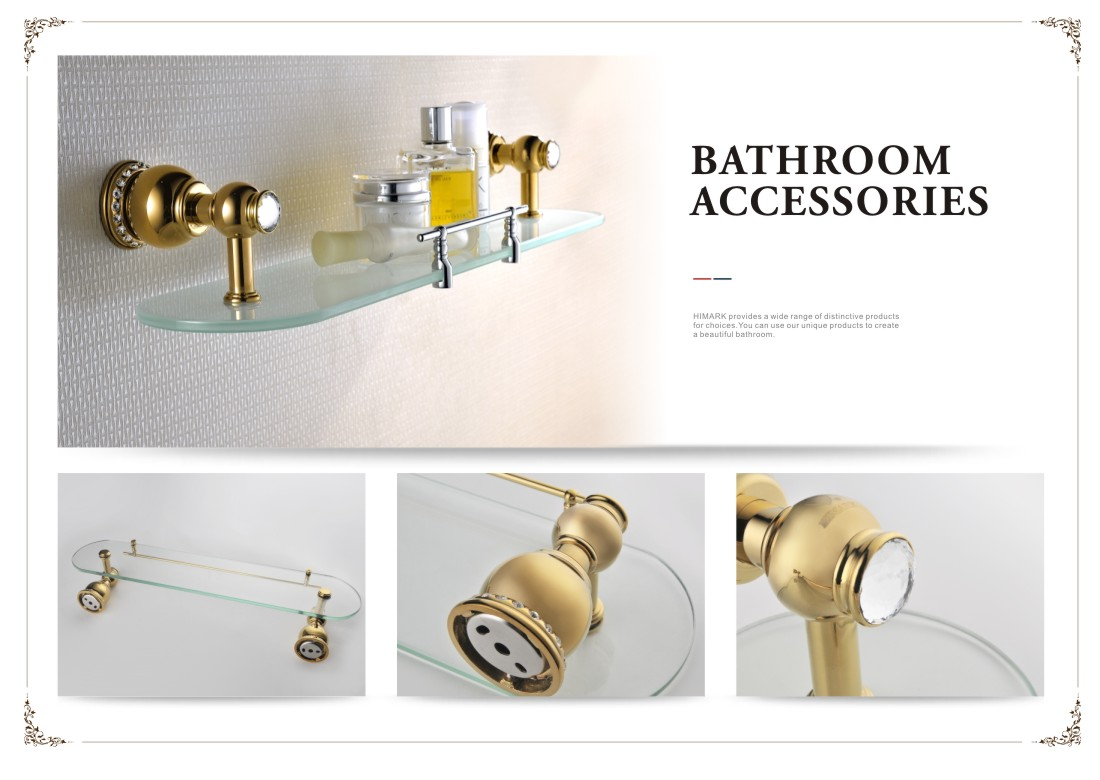 Antique Style Gold Plated Glass Shelves For Bathroom Wall Buy Glass Bathroom Shelves Glass