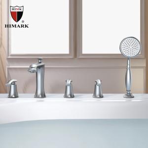 四孔拉丝浴缸水龙头四件套 汉玛克卫浴品牌厂家批发招商加盟