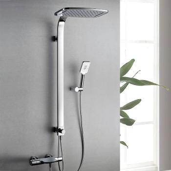 Wholesale bathrooms chrome dual control thermostatic shower faucet set