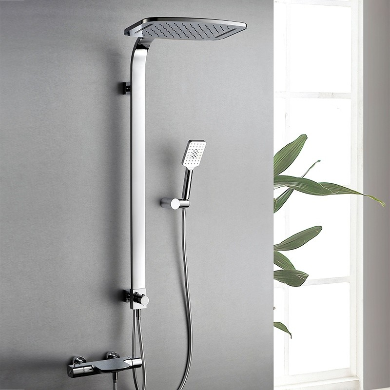Thermostatic shower faucet set