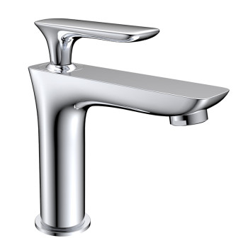 Factory wholesale single cold water brass bathroom basin sink tap