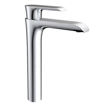 Modern single handle bathroom copper vessel sink faucet