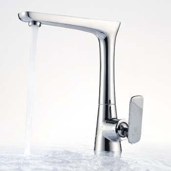 Modern brass single hole single handle kitchen sink faucet