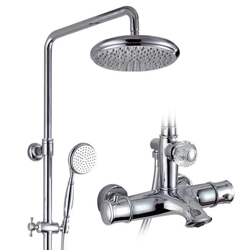 Thermostatic shower mixer set