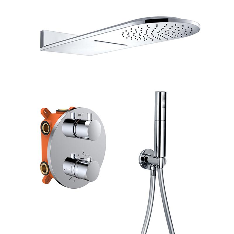 Chrome shower faucets