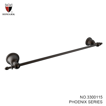 Wall mounted brass single towel bar in oil rubbed bronze